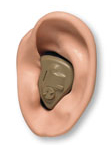 Hearing Aid in a ear