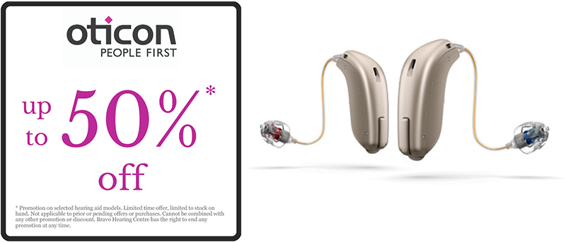 50% Off on Oticon Hearing Aids