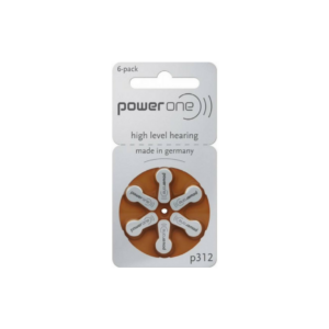Power One - Size 312 Zinc Air Hearing Aid Batteries